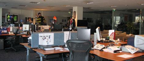 Het kantoor in het Film 1 gebouw